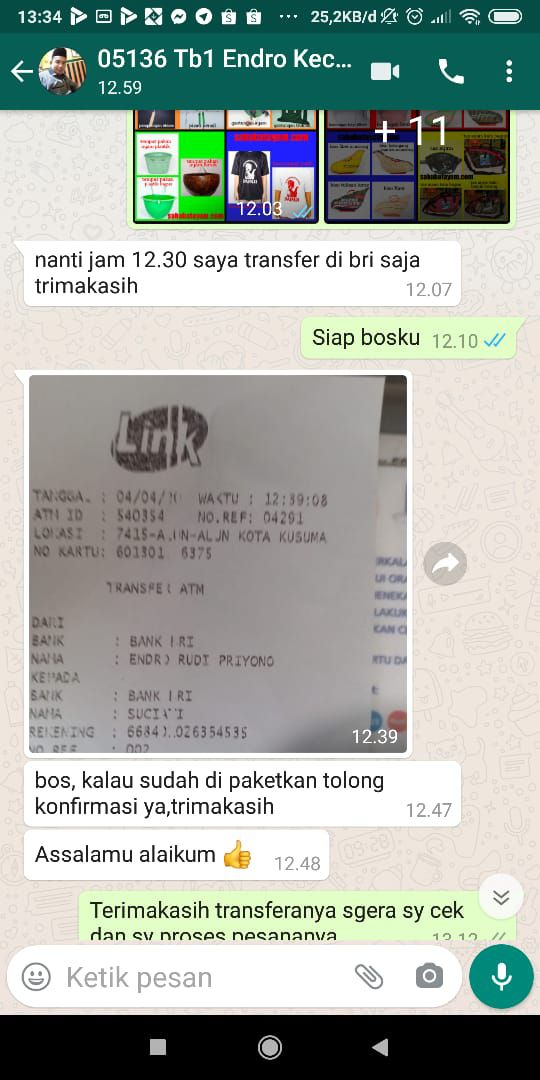 testimoni transfer ke1 25 april 2020