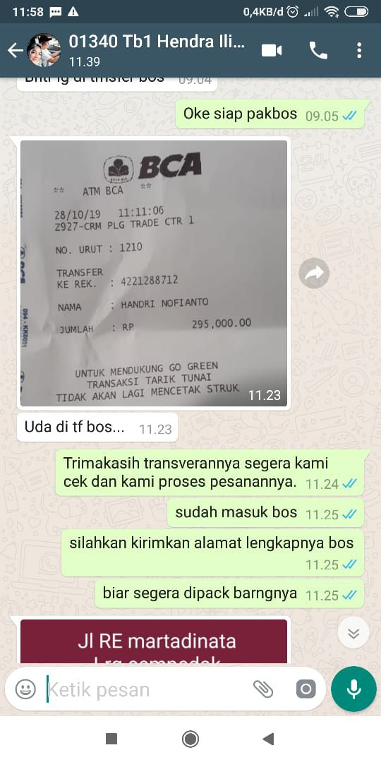 testimoni transfer ke2 25 april 2020